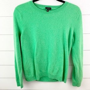 Talbots 100% Pure Cashmere Green Sweater